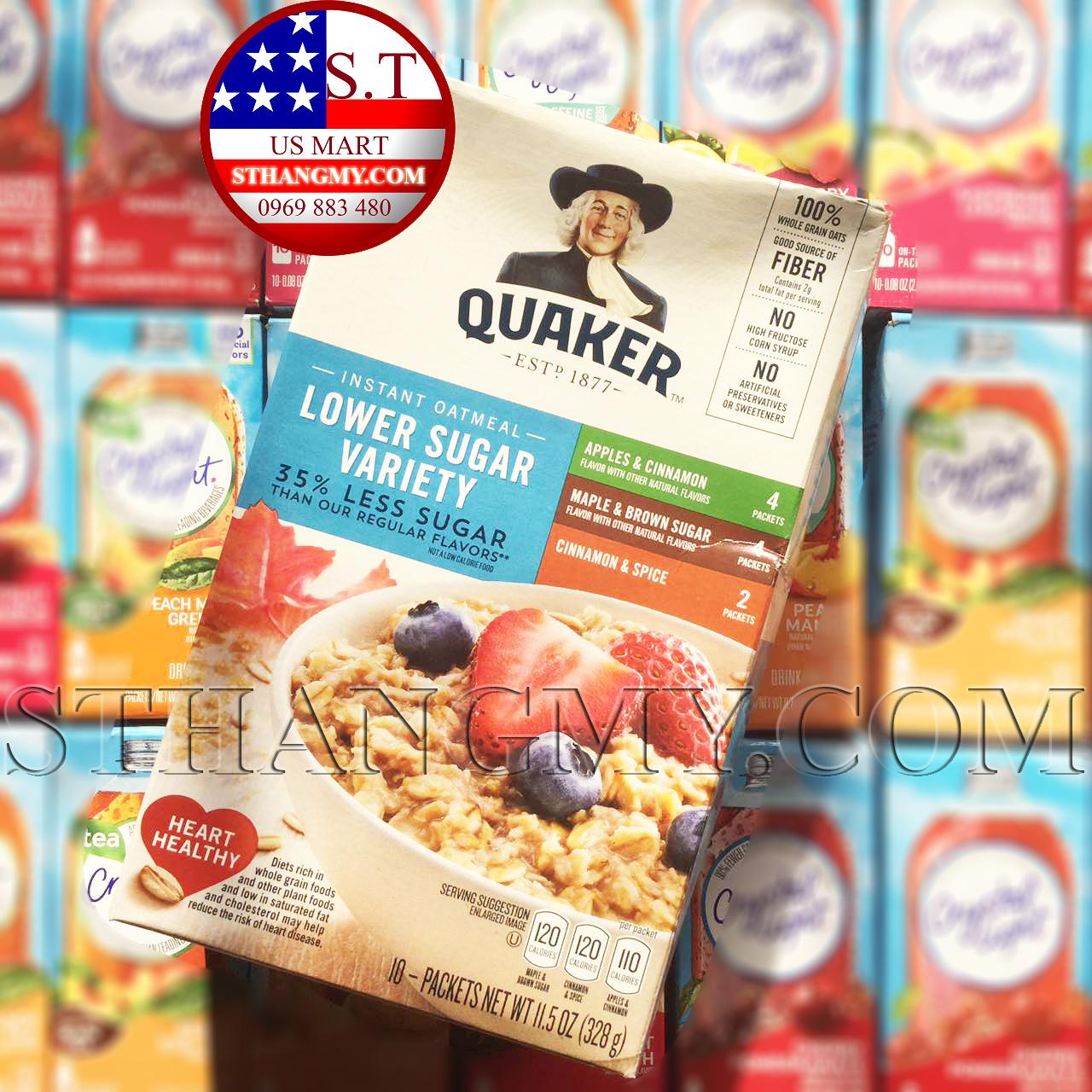 Yến mạch ăn sáng Quaker Lower Sugar Variety