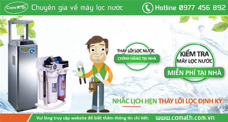Dịch vụ thay lõi lọc nước tại nhà ở Hà Nội và Kiểm tra nước miễn phí