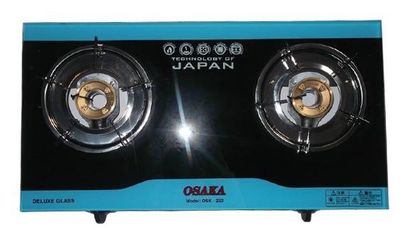 Bếp gas đôi dương kính Osaka OSK-222