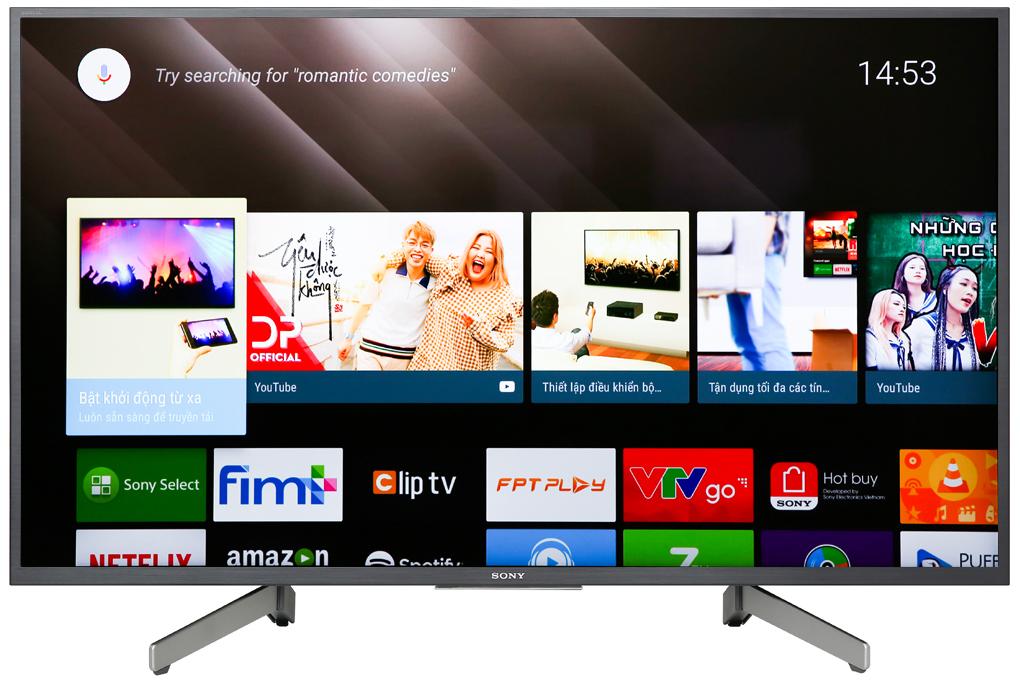 Tivi Sony 4K 43 inch KD-43X8000G (Mẫu 2019)