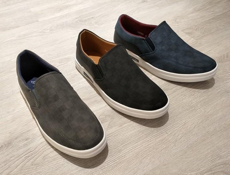 giày lười vải da lộn