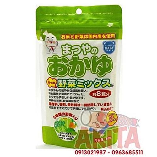 Bột gạo nấu cháo cho bé Matsuya (vị 5 loại rau củ)