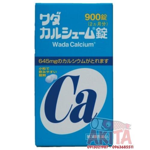 Viên uống bổ sung Canxi màu xanh dương (900 viên) - Wada Calcium