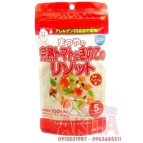 Bột gạo nấu cháo cho bé Matsuya (vị nấm, rau củ)