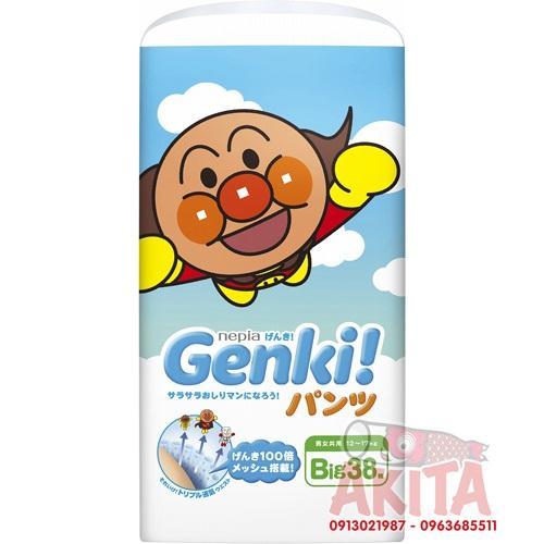 Bỉm quần Genki size XL cho bé từ 12-20kg (38 miếng/bịch)