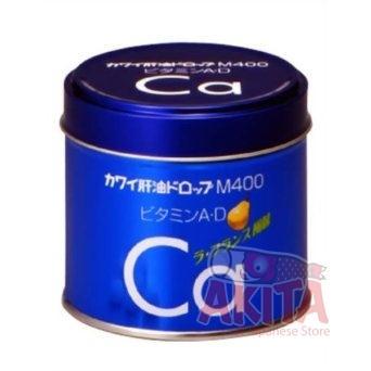 Canxi + Vitamin A/D - CA M400 cho bé vị quả lê (hộp 180v)