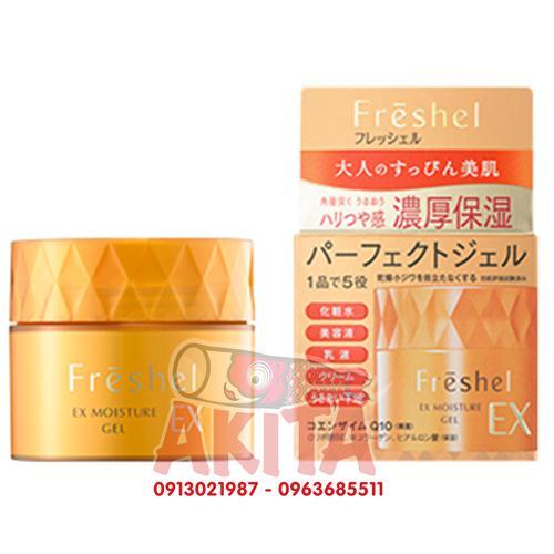 Kem dưỡng ẩm chống lão hóa 5in1 Kanebo Freshel Ex Moisture Gel