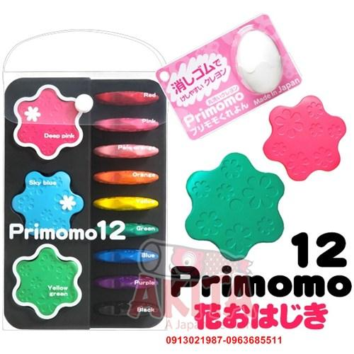 Bút sáp màu an toàn Primomo hình ngôi sao (12 màu)
