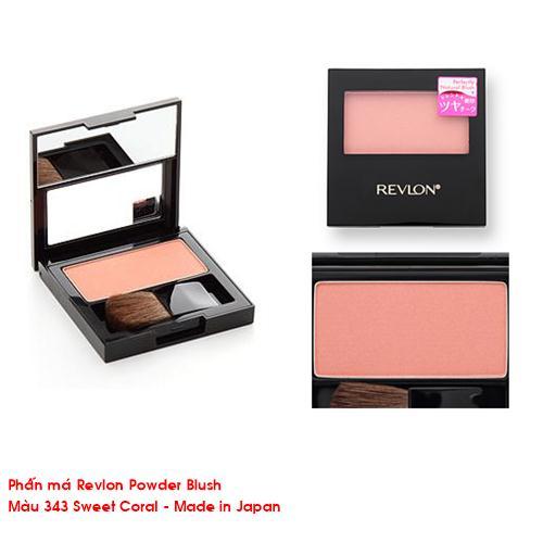 Phấn má Revlon Powder Blush Matte (màu 343 Sweet Coral)