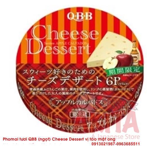 Phomai QBB (ngọt) vị táo mật ong (hộp 6 miếng) 90g