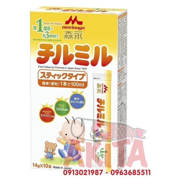 Sữa Morinaga 1-3 (hộp 10 thanhx14gr)