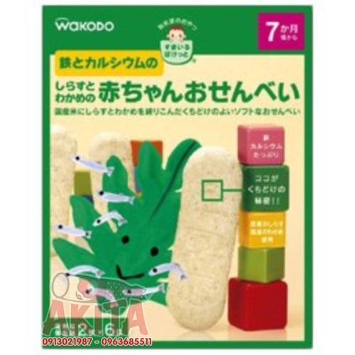 Bánh ăn dặm Wakodo dành cho bé 7th (vị rong biển, cá cơm)