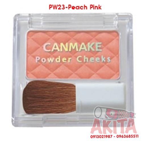 Phấn má hồng Canmake Powder Cheeks (màu Peach Pink)