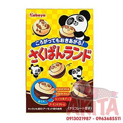 Chocolate nhân kem Caramel phủ cookie hình gấu Panda Kabaya (40gr)
