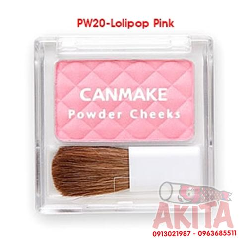 Phấn má hồng Canmake Powder Cheeks (màu Lolipop Pink)