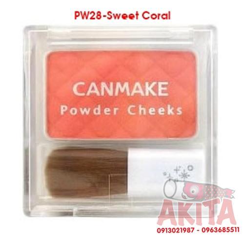 Phấn má hồng Canmake Powder Cheeks (màu Sweet Coral)
