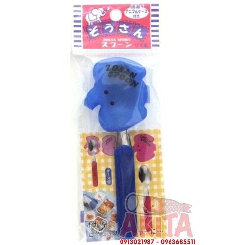 Thìa có nắp đậy cho bé Eco (màu xanh)