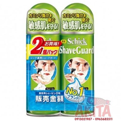 Bọt cạo râu Schick Shave Guard (200gr x 2 lọ)