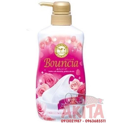 Sữa tắm Bounica 450ml màu hồng (dưỡng ẩm tự nhiên)