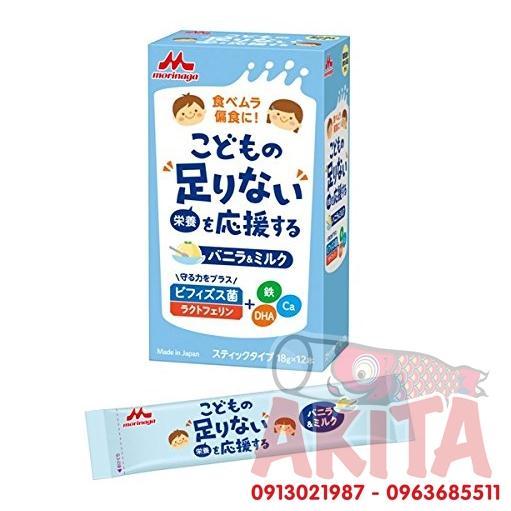 Sữa bột Morinaga vị Vanilla cho bé 3T+ (10 góix18gr)