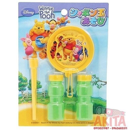 Set thổi bong bóng an toàn cho bé hình gấu Pooh