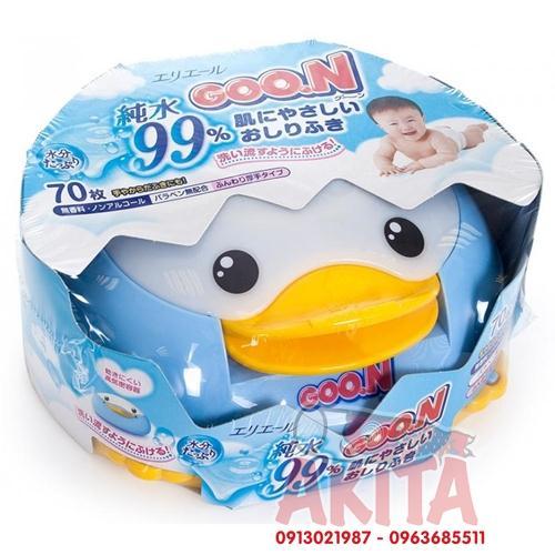 Giấy ướt Goon hộp chim cánh cụt (có sẵn 1 bịch giấy 70 tờ)