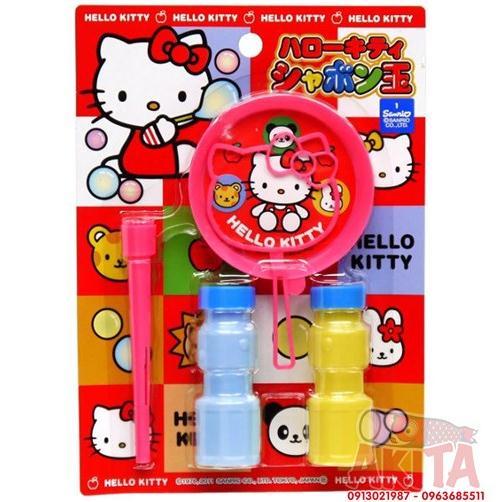 Set thổi bong bóng an toàn cho bé hình Hello Kitty