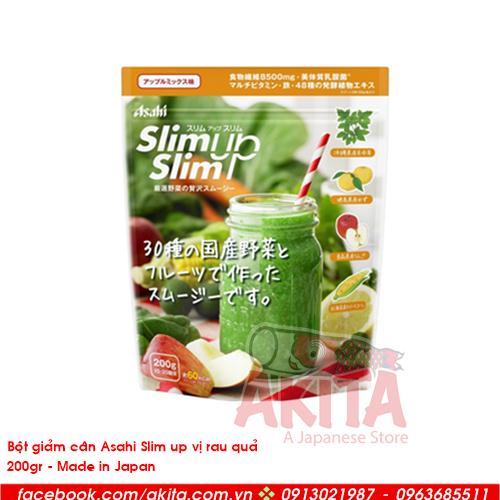 Bột giảm cân Asali Slim up vị rau quả (200gr)