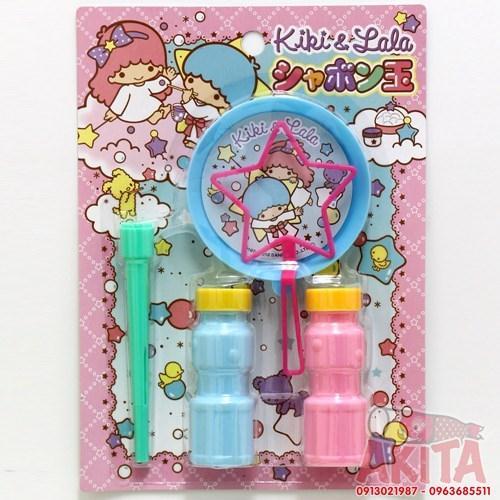 Set thổi bong bóng an toàn cho bé hình Kiki & Lala