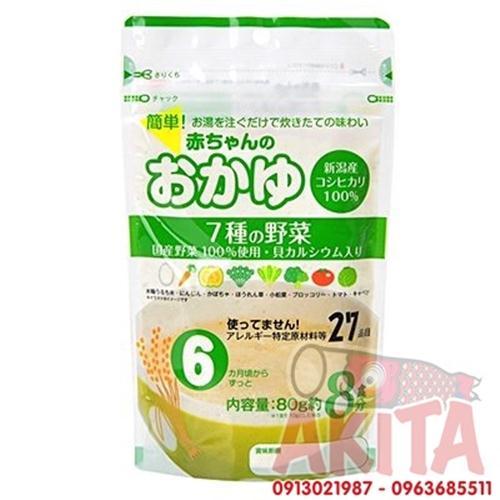 Bột gạo nấu cháo cho bé (6 tháng trở lên)