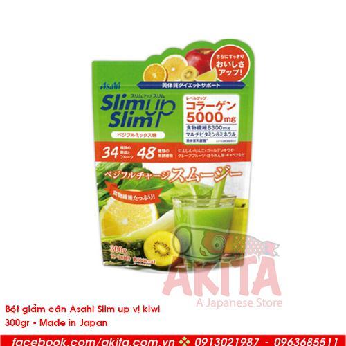 Bột giảm cân Asali Slim up vị kiwi (200gr)