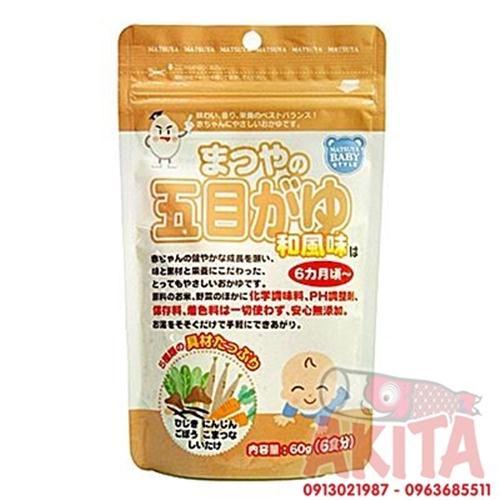 Bột gạo nấu cháo cho bé Matsuya (vị rong biển hibiki, nấm shitake, rau củ)
