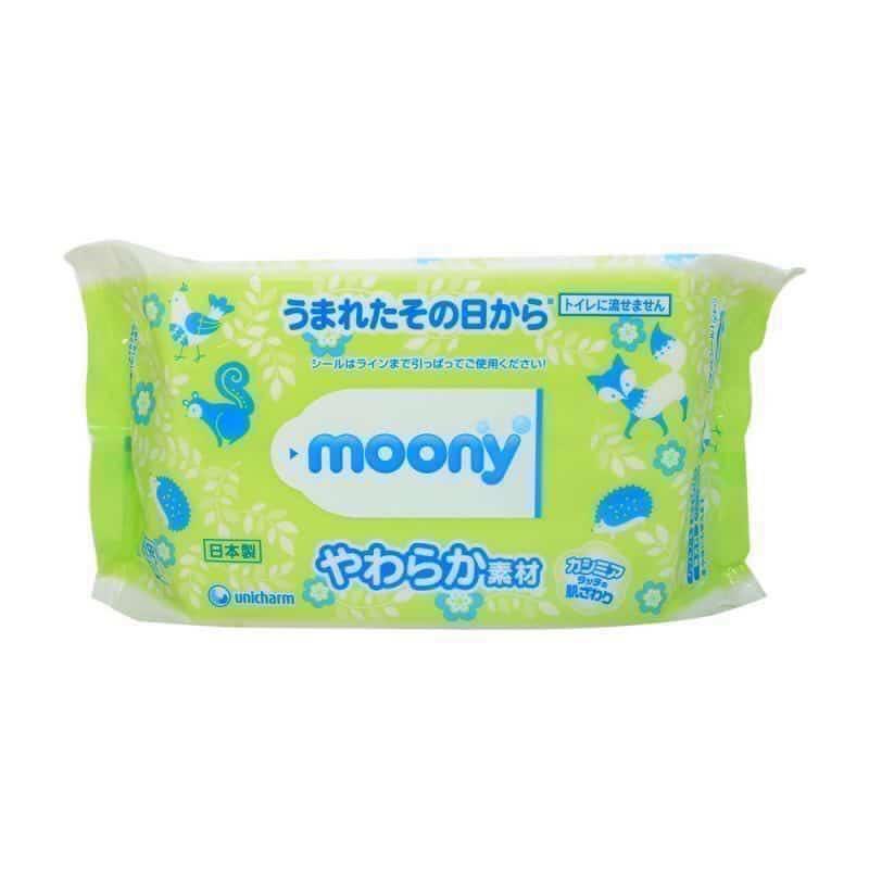 Giấy ướt Moony (gói 80 tờ)