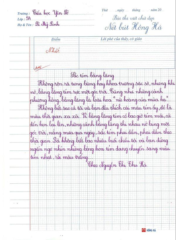 mẫu luyện chữ viết thường nét thanh nét đậm