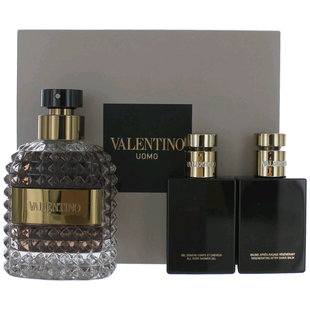 SET Valentino Uomo Nam Set EDT 100 ml + 50ml Tắm gội + 50ml Cạo Râu (Travel Exclusive)
