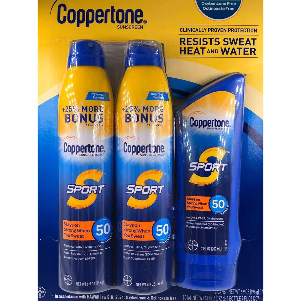 SET Chống nắng BAYER COPPERTONE SPORT