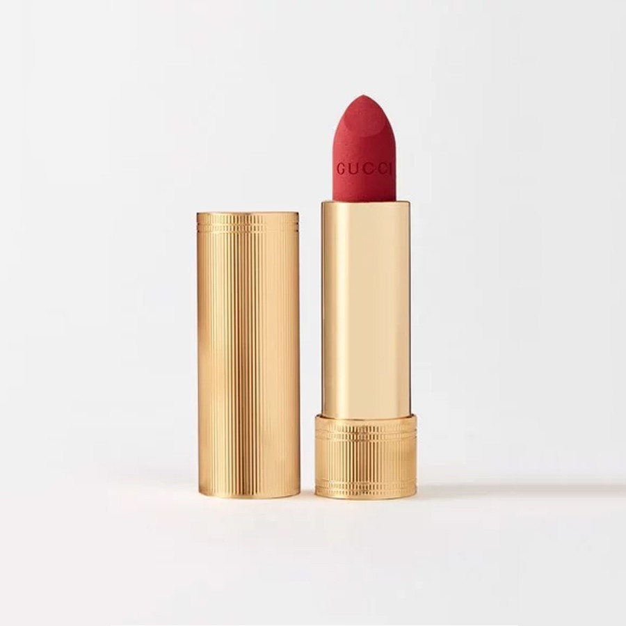 Son Gucci Rouge À Lèvres Mat Lip Colour 25 Goldie Red