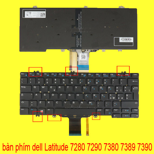 ban phim laptop dell 7280 7290 7380 7389 7390