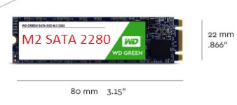 SSD M2 sata 2280 120gb WD Green