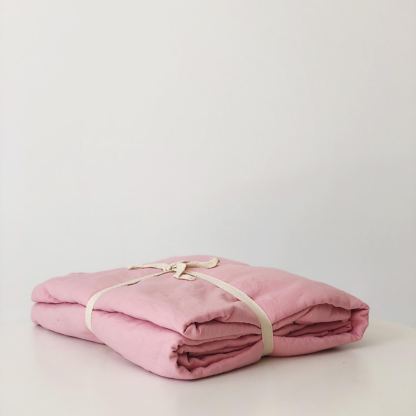 Bộ Ga Giường Cotton 1.6m Màu Hồng Phấn