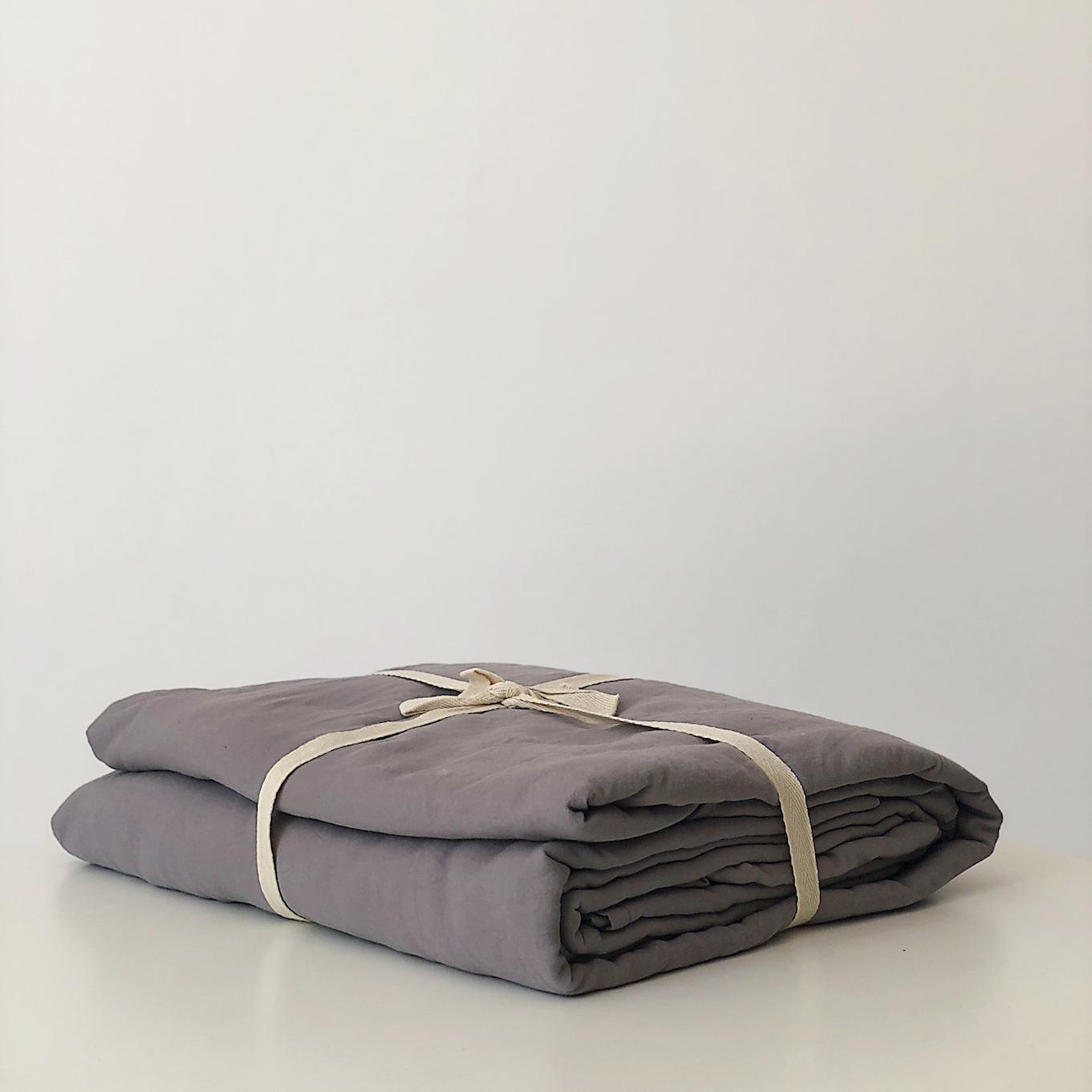 Bộ Ga Giường Cotton 1.6m Màu Tràm