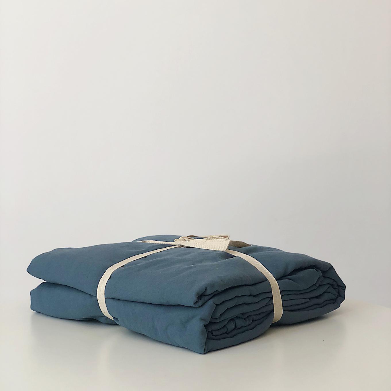 Bộ Ga Giường Cotton 1.6m Màu Xanh