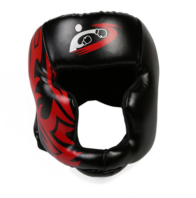 Mũ bảo vệ đầu trong tập luyện Kick Boxing mẫu 2019 màu đen