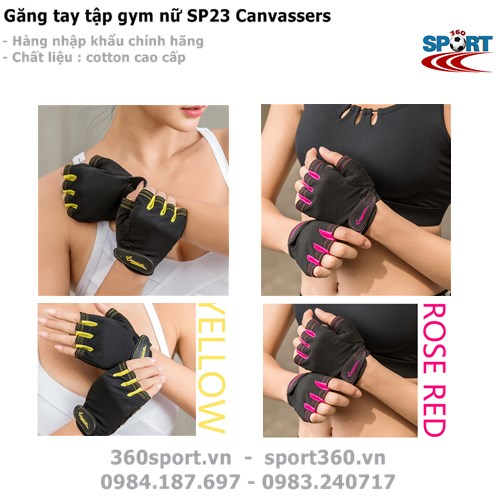 Găng tay tập gym nữ Canvassers SP23