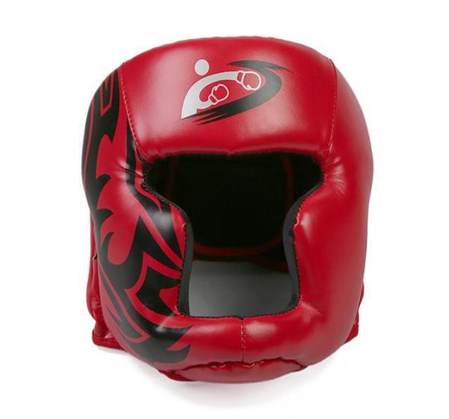 Mũ bảo vệ đầu trong tập luyện Kick Boxing mẫu 2019 màu đỏ