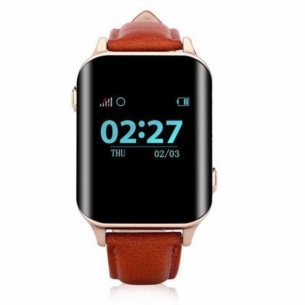 Đồng hồ định vị trẻ em người già GPS đo nhịp tim Wonlex E200 Nâu