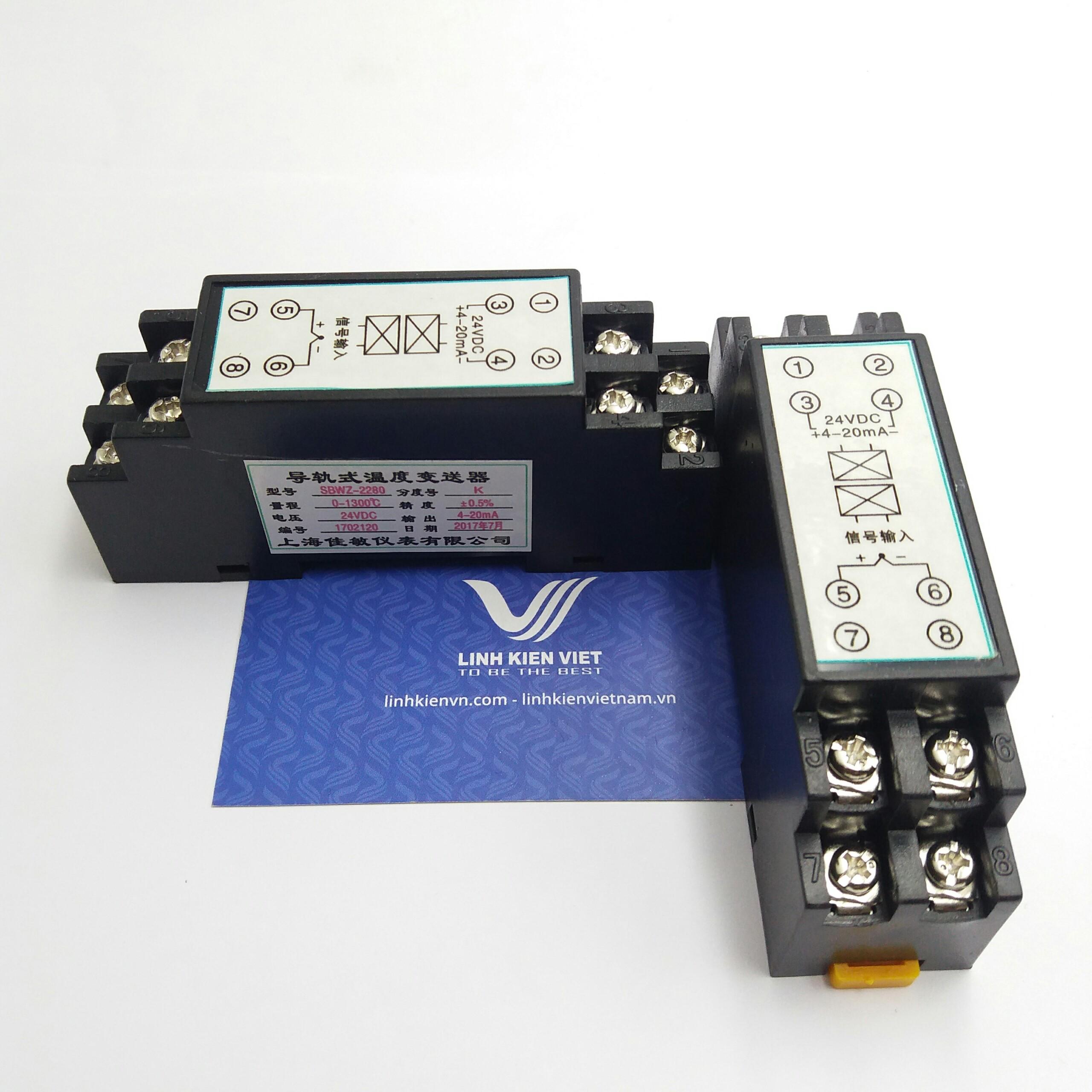 Bộ chuyển đổi nhiệt độ K 4-20mA / 0-1300 độ/ 24VDC - i7H17