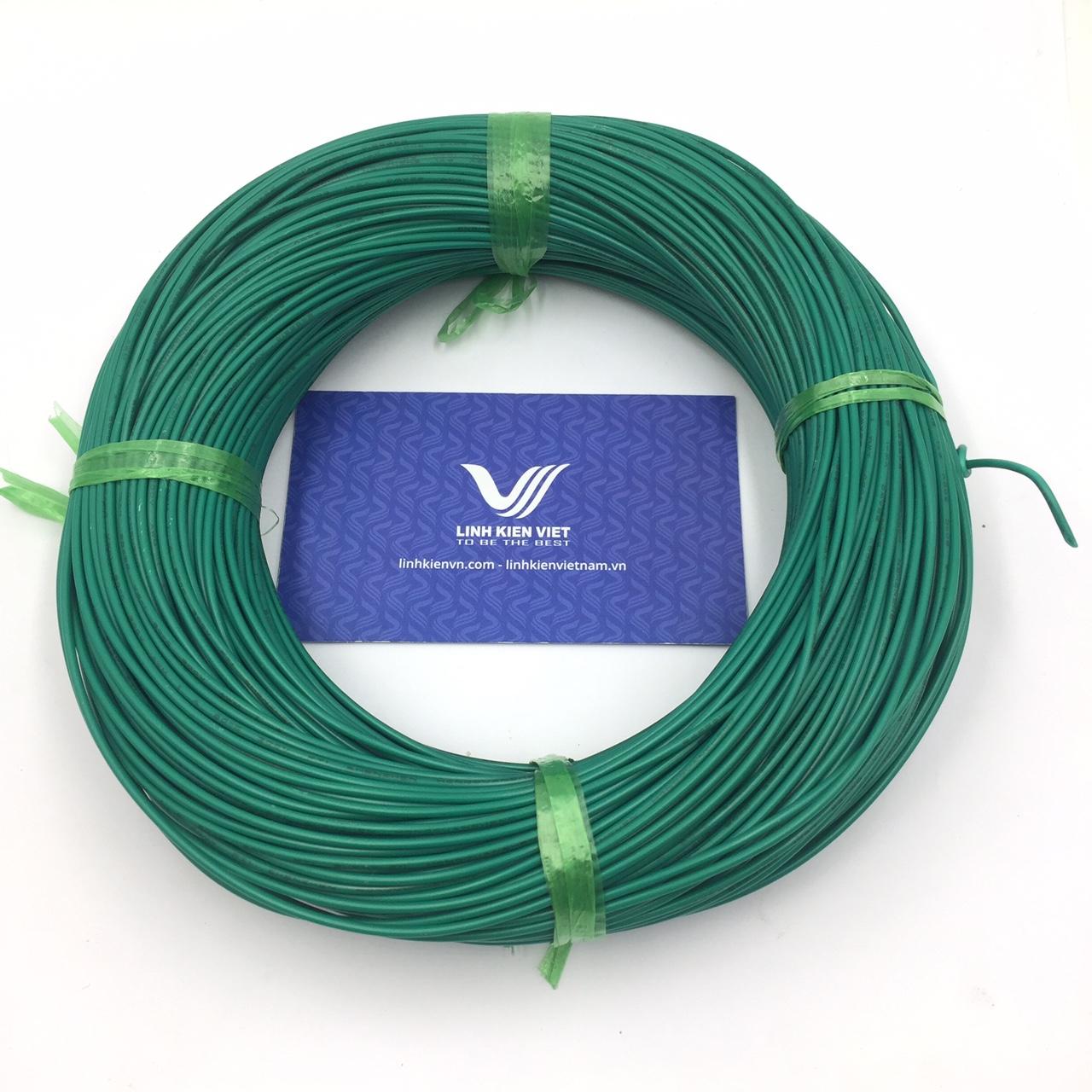 Cuộn dây điện 100m UL 1007 22AWG - màu xanh lục