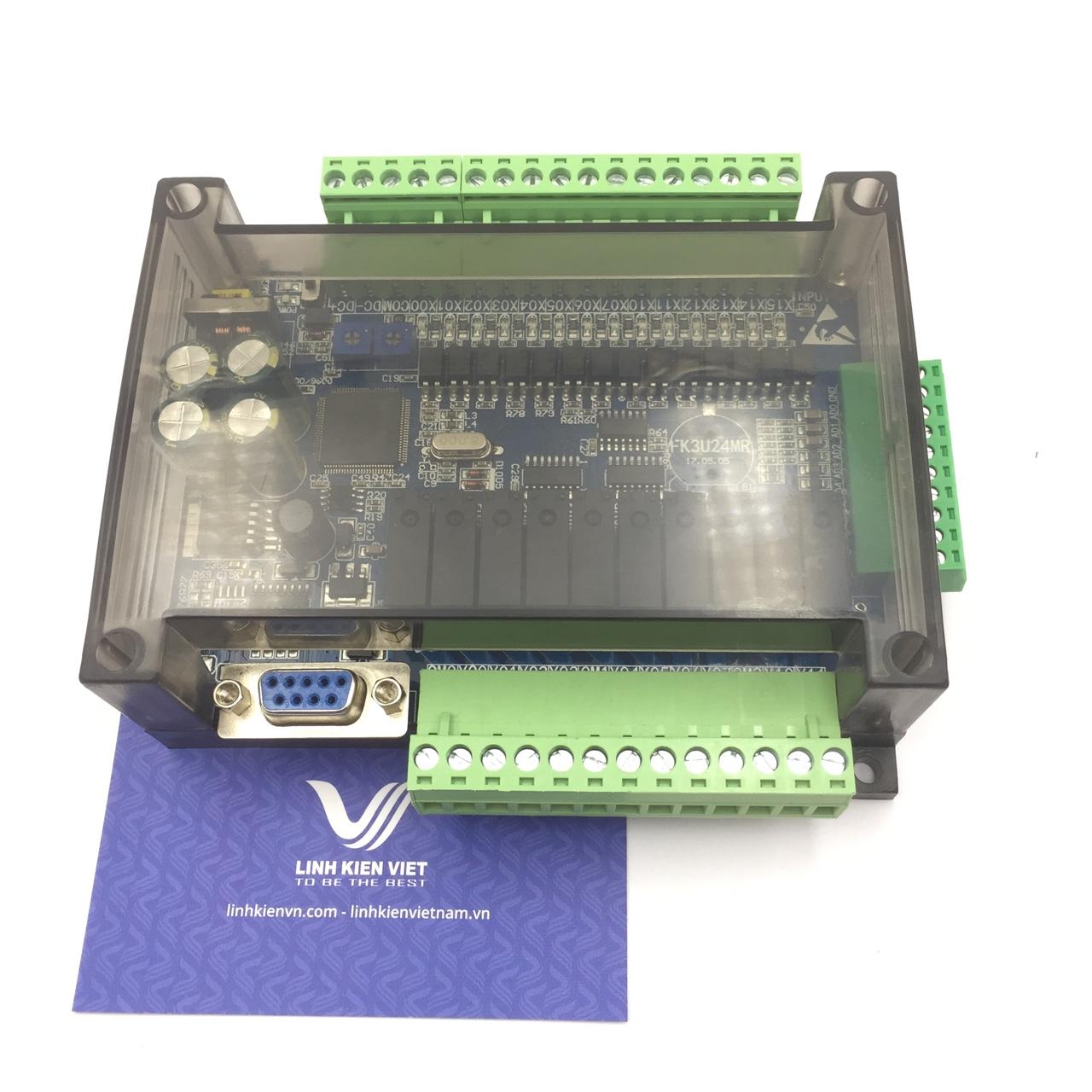 Bo mạch PLC FX3U-24MR có vỏ tích hợp 6AD 2DA