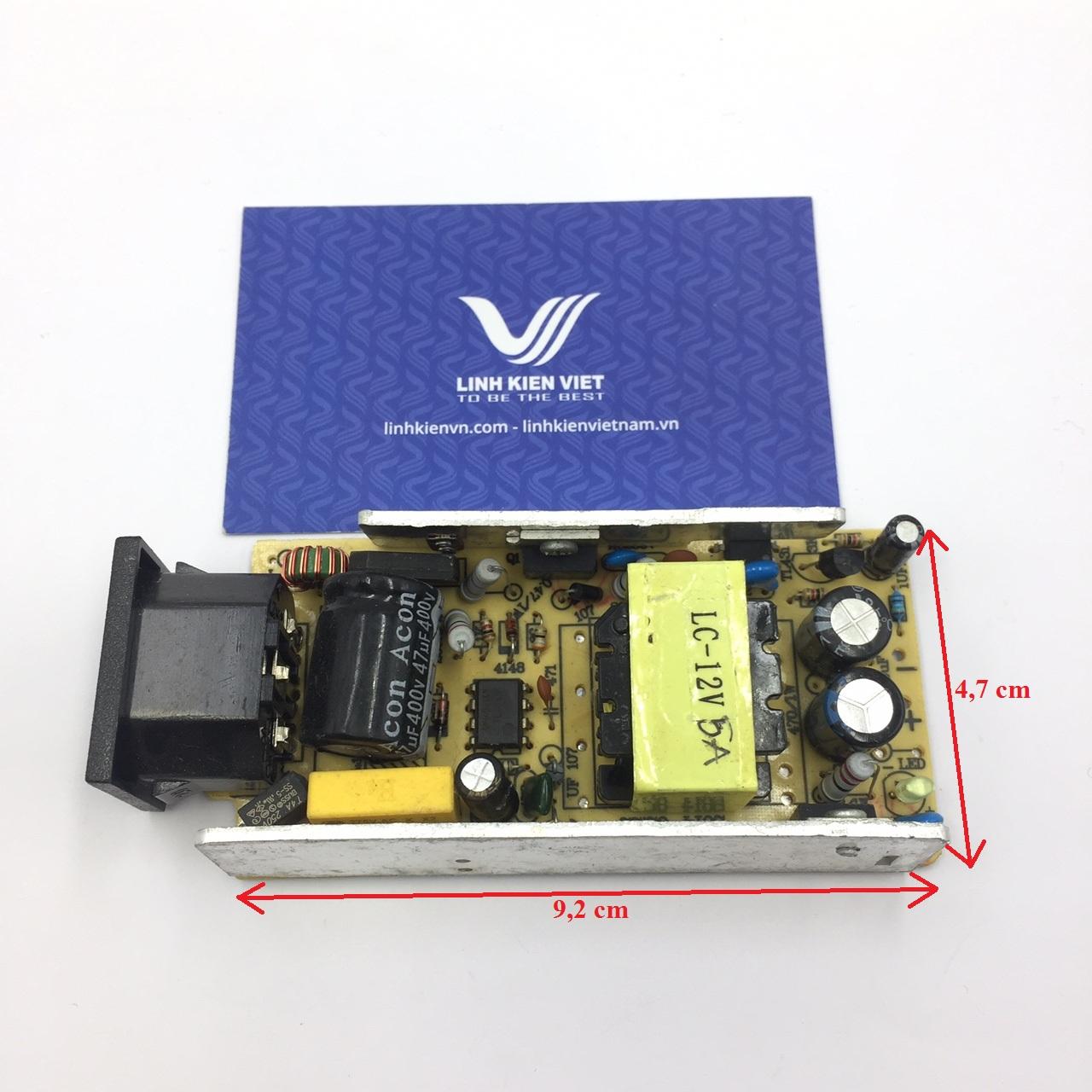 Nguồn adapter 12V 5A không vỏ - B3H11(KA7H4)
